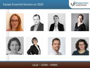 Equipe Essentiel Gestion en 2020